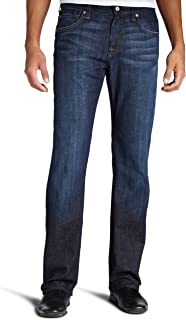 7 For All Mankind Men's Austyn Relaxed Straight-Leg Jean in Los Angeles Dark, Los Angeles Dark, 34x32