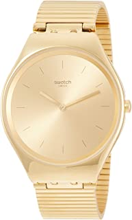 Swatch Unisex Gold Dial Stainless Steel Band Watch - SYXG100GG