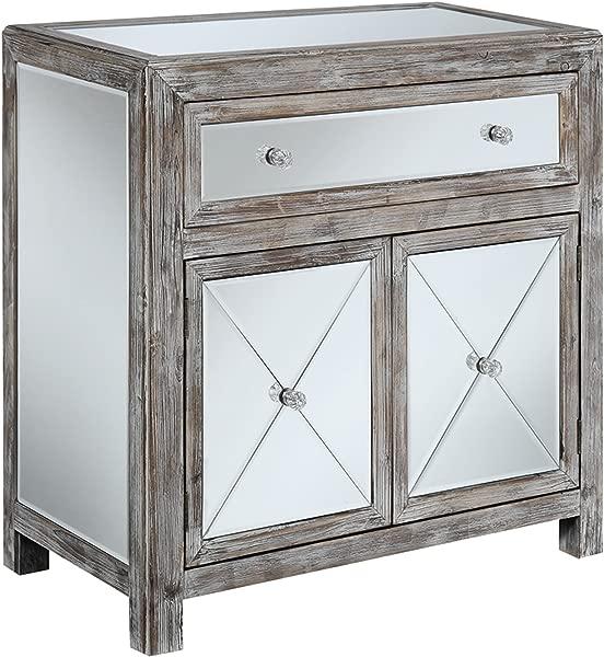 便利概念黄金海岸葡萄园镜子大厅桌子风化白镜子