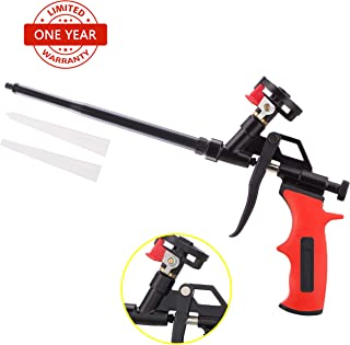Needn't Clean Foam Gun, Pu Expanding Foaming Gun, Upgrade Caulking Gun, Heavy Duty Spray Foam Gun, Mental Body Covered with PTFE, Suitable for Caulking, Filling, Sealing, Home and Office Use