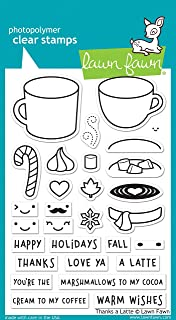 Lawn Fawn Thanks A Latte Clear Stamp Set (Lf1761)