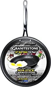 GRANITESTONE 2144 Nonstick, No-warp, Mineral-enforced Frying Pans With Stay-Cool Handles, Dishwasher-safe, PFOA-Free As Seen On TV (10-inches)