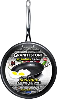 GRANITESTONE Non-Stick, No-warp, Mineral-enforced Frying Pans PFOA-Free As Seen On TV (10-inch)