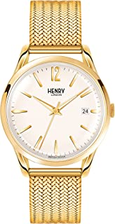 Henry London Ladies Analogue Westminster Watch with Polished Gold Bracelet HL39-M-0008