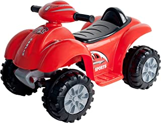 Ride On Toy Quad, Battery Powered Ride On ATV Dinosaur Four Wheeler With Sound Effects by Lil' Rider – Toys for Boys and Girls 2 - 4 Year Olds (Red)