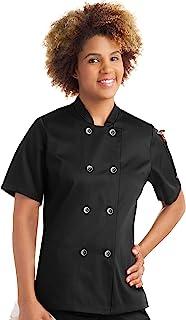 Women's Short Sleeve Chef Coat (S-2X, 2 Colors)