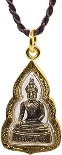 Bhumisparsha mudra Earth-Touching Golden Buddha Thai Amulet Pendant
