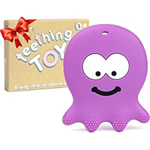 UK Infant Silicone Octopus Molar Toy Relieve Pain Baby Teether Soft Teething Toy