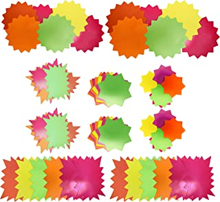 Neon Starbursts Cut-outs - Perfect for School-boards, Offices, Memos, Arts and Crafts and More! (2 Pack)