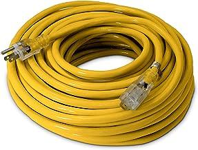 100-ft 12/3 Heavy Duty Lighted SJTW Indoor/Outdoor Extension Cord by Watt's Wire..