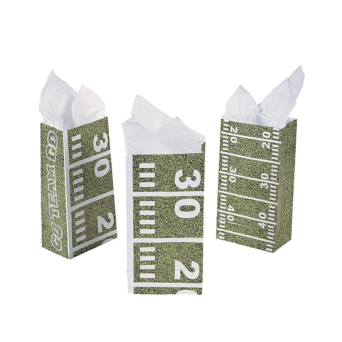 Football Field Treat Bags (One Dozen) Party Supplies/Tailgating/TreatBags/Party Favors