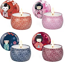 YINUO LIGHT Candle Scented Soy Wax Tin Gift Set for Women
