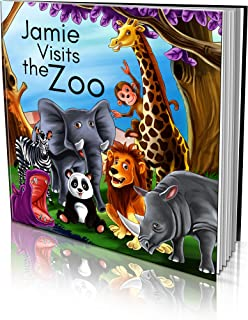 """Personalized Story Book by Dinkleboo - """"Visits The Zoo"""" - For Children Aged 2 to 8 Years Old - A Story About Your Child Go..."""