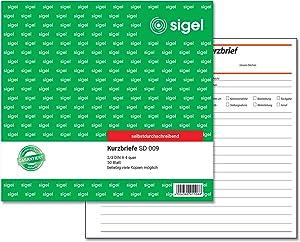Sigel Kurzbriefe Kurzbrief 2/3A4 Sd 50Bl Beliebig Viele Kopien