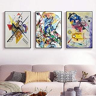 Vintage Wassily Kandinsky Célèbre Impression Abstraite Peintures sur Toile Affiche et Impression Murale Art Photo pour Sal...