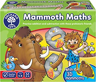 Orchard Toys Mammoth Maths Board Game 098, Multi-Colour