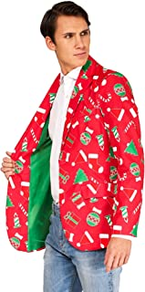 OFFSTREAM Ugly Christmas Jackets for Men in Different Prints – Xmas Sweater Blazer