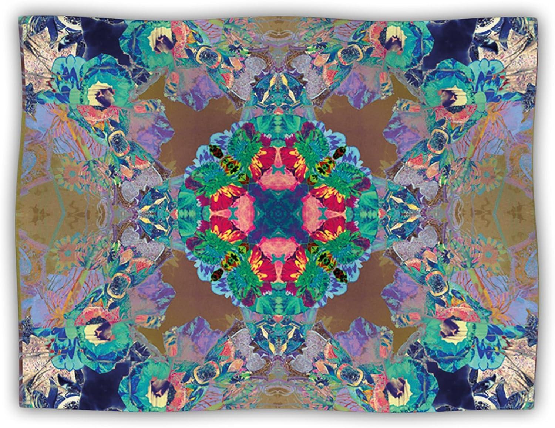 Kess InHouse Danii Pollehn Flowery Floral Kaleidoscope Dog Blanket, 60 by 50Inch