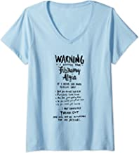 Womens Warning I suffer from Fibromyalgia - Funny Fibro Saying V-Neck T-Shirt