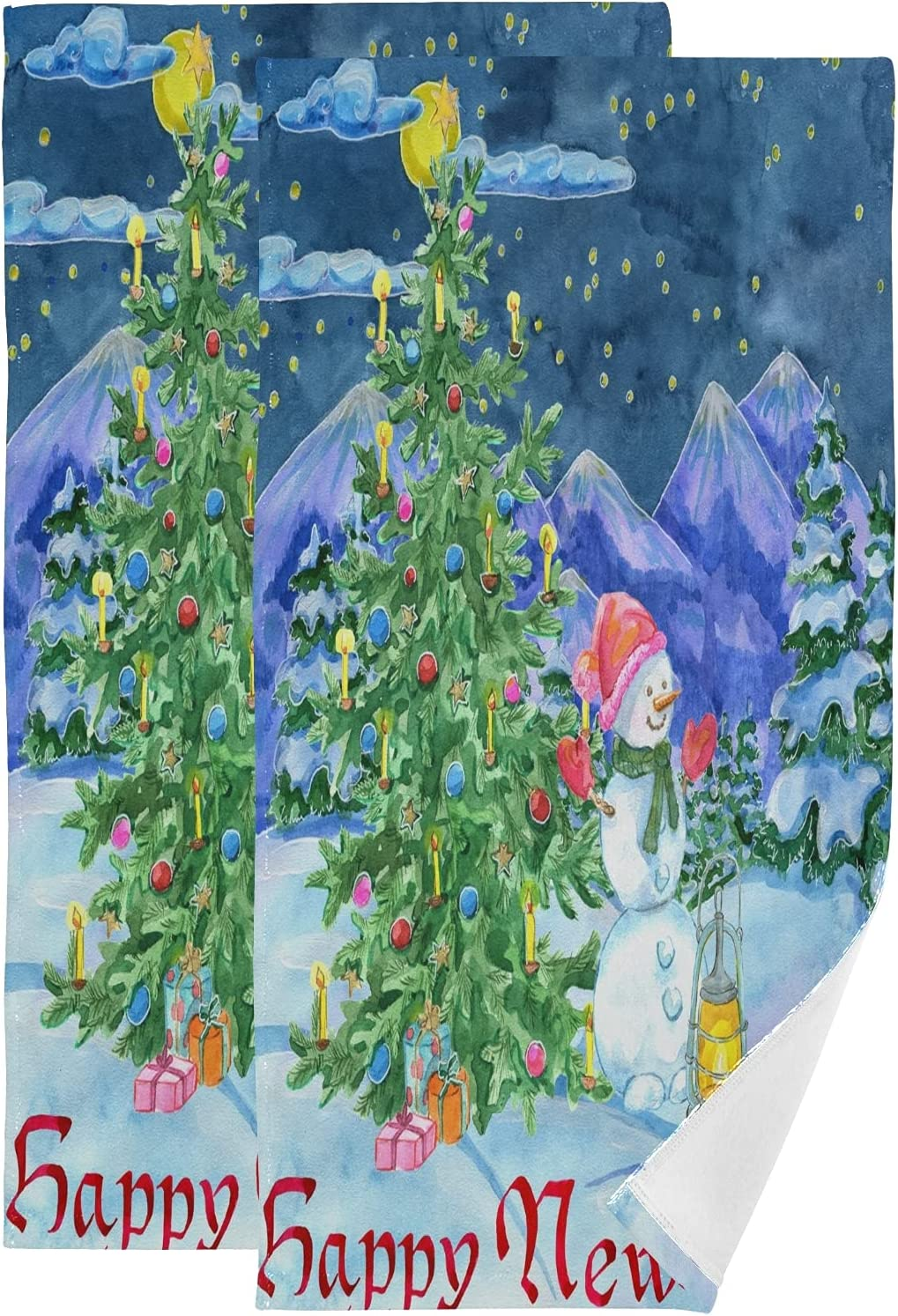 Towel Set Winter Forest Christmas Tree Snowman Large Sale price Fashionable Bath Towels