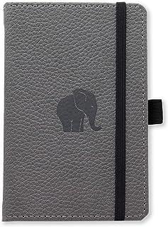 Dingbats A6 Pocket Wildlife Grey Elephant Notebook - Dotted
