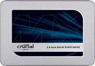 Crucial MX500 500GB 3D NAND SATA 2.5 Inch Internal SSD - CT500MX500SSD1, Blue/Gray