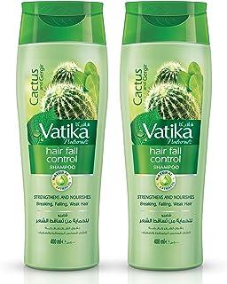 Vatika Naturals Hair Fall Control Shampoo Cactus and Ginger, 2 X 400 ml - Pack of 2