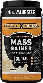 Body Fortress Super Advanced Whey Protein Powder Mass Gainer, Gluten Free, Vanilla, 4 lbs