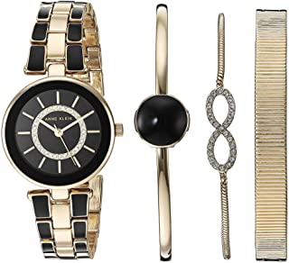 Anne Klein Womens Swarovski Crystal Accented Watch and Bracelet Set
