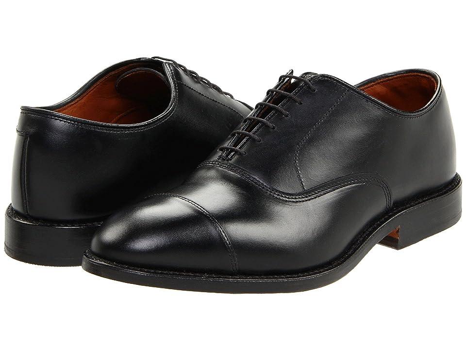 Mens Vintage Style Shoes & Boots| Retro Classic Shoes Allen Edmonds Park Avenue Black Custom Calf Mens Lace Up Cap Toe Shoes $394.95 AT vintagedancer.com