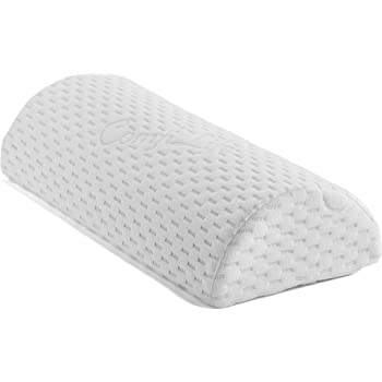 ComfiLife Bolster Pillow for Legs, Knees, Lower Back - 100% Memory Foam Half Moon Pillow - Semi Roll Pillow for Lower Back Pain Relief - Great as Under Knee Pillow, Leg Rest Pillow, Lumbar Pillow