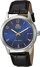Orient Men's Howard Stainless Steel Japanese-Automatic Watch with Leather Calfskin Strap, Black, 22 (Model: FAC05007D0)
