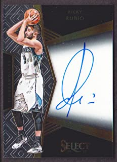 2016-17 Select Basketball Signatures #6 Ricky Rubio Auto 28/99 Minnesota Timberwolves