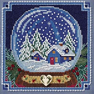 Mill Hill Snow Globe Beaded Counted Cross Stitch Kit Buttons & Beads 2017 Winter Series MH141734