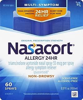 Nasacort Allergy 24 Hour Nasal Spray, 60 Sprays (0.37 fl. oz)