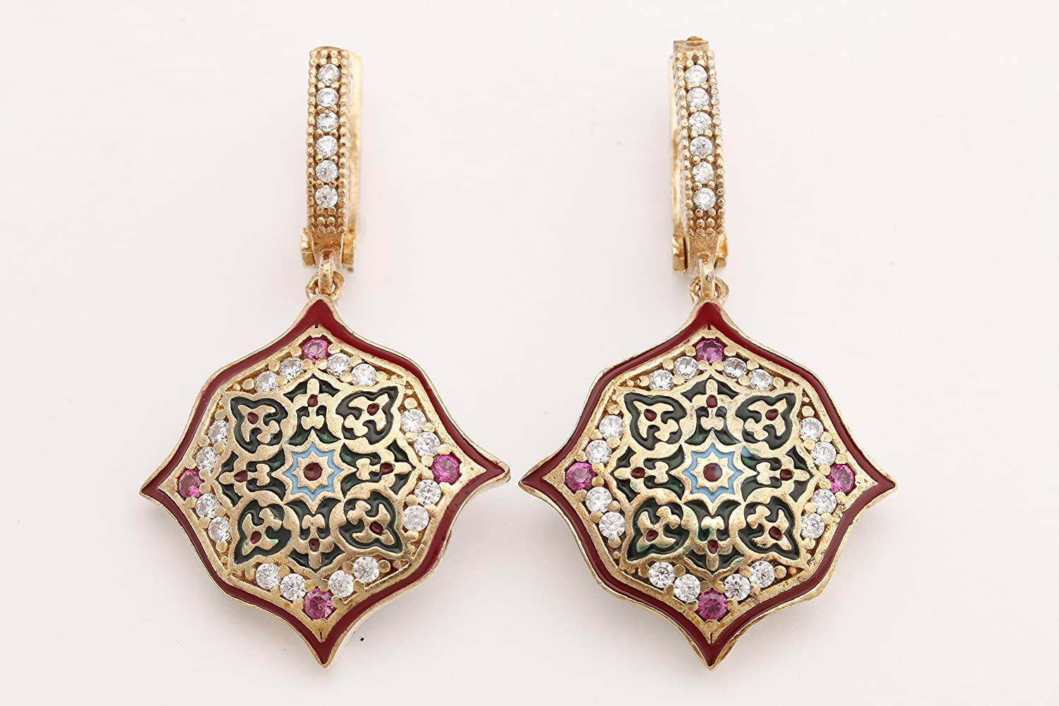 Motif Style Turkish Handmade All Authentic Jewelry Ro Finally popular brand Enamel Red Outlet sale feature