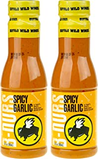 Buffalo Wild Wings Barbecue Sauces, Spices, Seasonings and Rubs For: Meat, Ribs, Rib, Chicken, Pork, Steak, Wings, Turkey, Barbecue, Smoker, Crock-Pot, Oven (Spicy Garlic, (2) Pack)