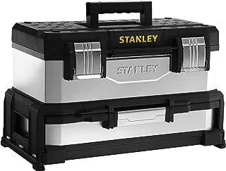Stanley 1-95-830 Gereedschapskist (54,5 x 28 x 33,5 cm, met geïntegreerde lade, van metaal kunststof, gegalvaniseerde doo...