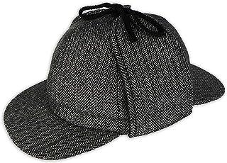 8067451adfa Pasquale Cutarelli Mens Wool Tweed Deerstalker Hat (9167)