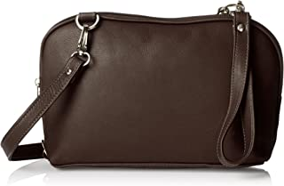 (Chocolate) - Piel Cross Body Carry-All