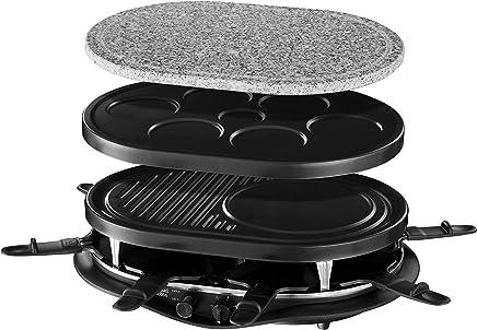 Russell Hobbs Fiesta - Raclette 4 en 1 (8 Mini Sartenes, Piedra Carne,