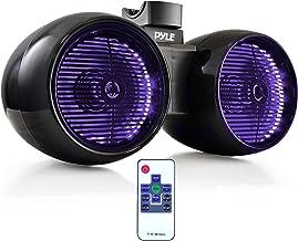 """Waterproof Marine Wakeboard Tower Speakers – 6.5"""" Dual Subwoofer Speaker Set and.."""