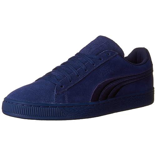 0887a2b2b0f PUMA Men's Suede Classic Badge Sneaker,Lapis Blue-Puma Black,9 ...