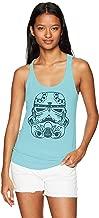 Star Wars Women's Sugar Skull Storm Trooper Ideal Racerback Graphic Tank Top