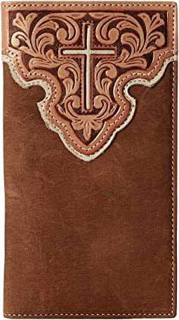 M&F Western Contrast Cross Underlay Rodeo Wallet