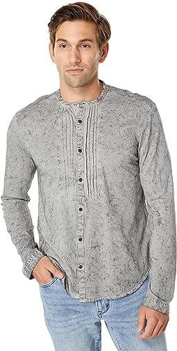 Stetson Long Sleeve Shirt with Pin Tuck in Raindrop Wash K5541X2B