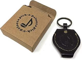 Pick-a-Palooza DIY Guitar Pick Punch Leather Key Chain Pick Holder - Brown
