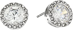 Halo Crystal Stud Earrings