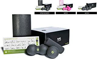 BLACKROLL BLACKBOX Set, Standard Fascia Tool Set, The Original Foam Rollers and Balls, Self Massage Tools for Fast Recovery and Back Pain Relief, Black