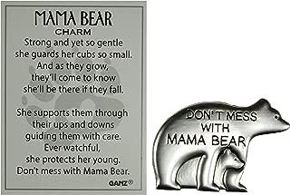 Ganz Don't Mess w/ Mama Bear Zinc Pocket Charm w/ Story Card